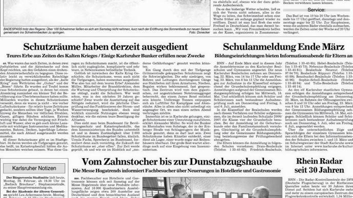 Der Artikel von 2007.