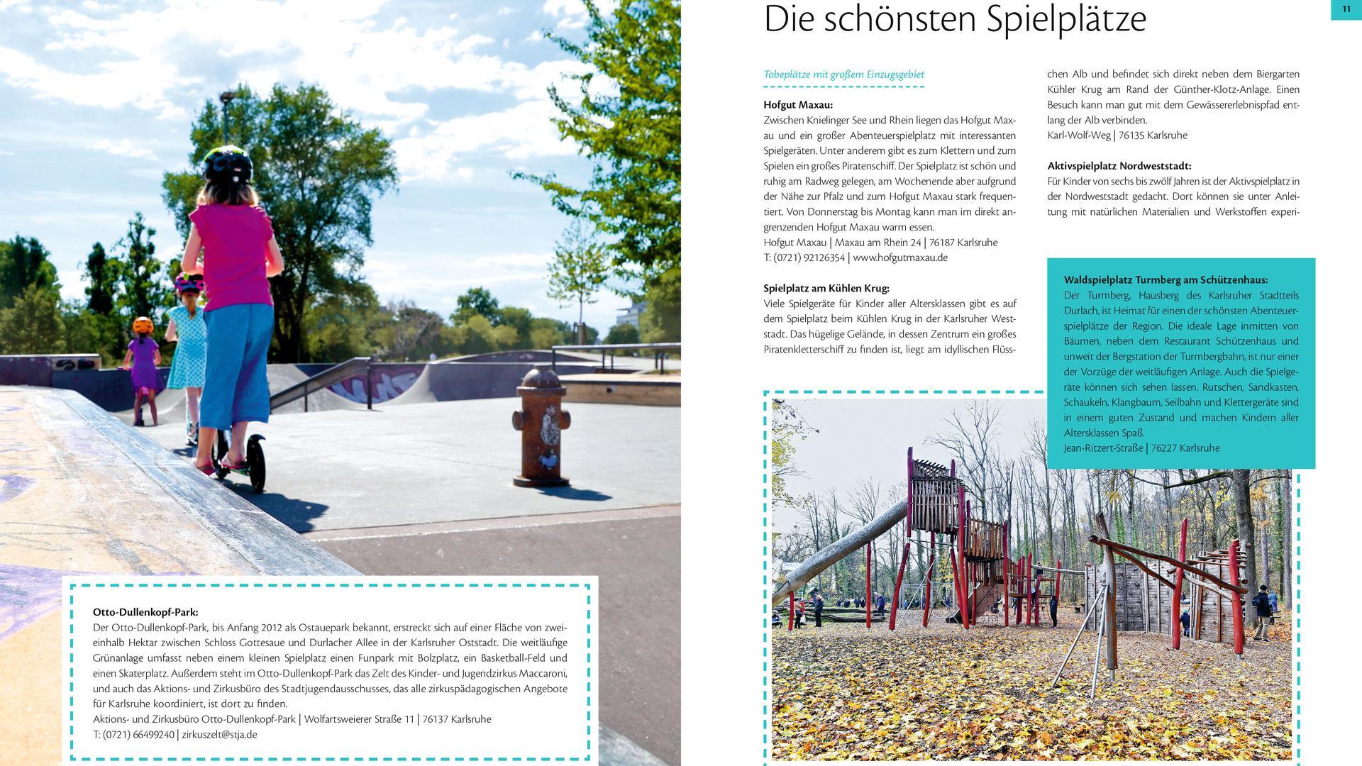 """Wer nach Abwechslung im Alltag sucht, findet im Katiel """"Bewegung"""" die außergewöhnlichsten und schönsten Spielplätze in Karlsruhe."""