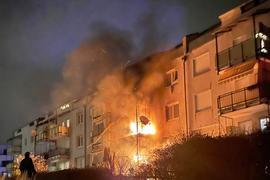 Feuer Wohnungen Karlsruhe-Oberreut