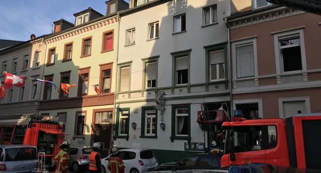 Feuerwehreinsatz Wilhelmstraße Karlsruhe