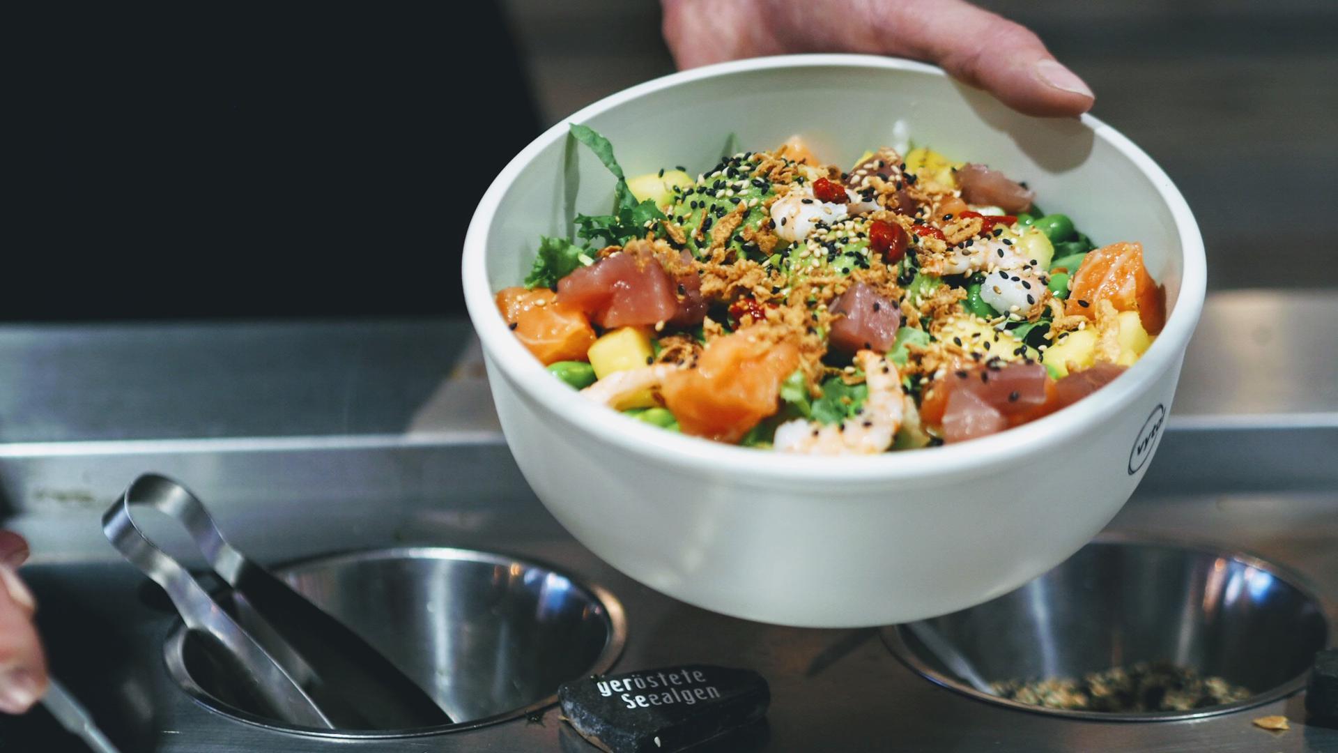 In solchen Vytal-Schüsseln können Kunden ihr Essen kostenlos mitnehmen, sofern sie die Behälter binnen zwei Wochen zurückbringen.