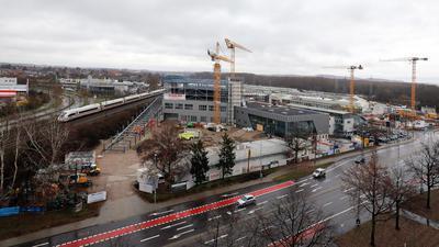 Baustellen an der Gerwigstraße