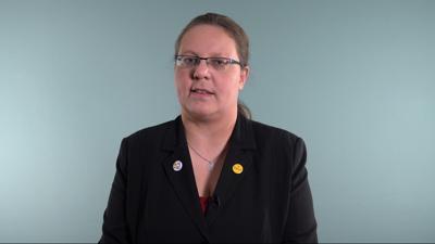"""Vanessa Schulz, OB-Kandidatin der """"Partei""""."""