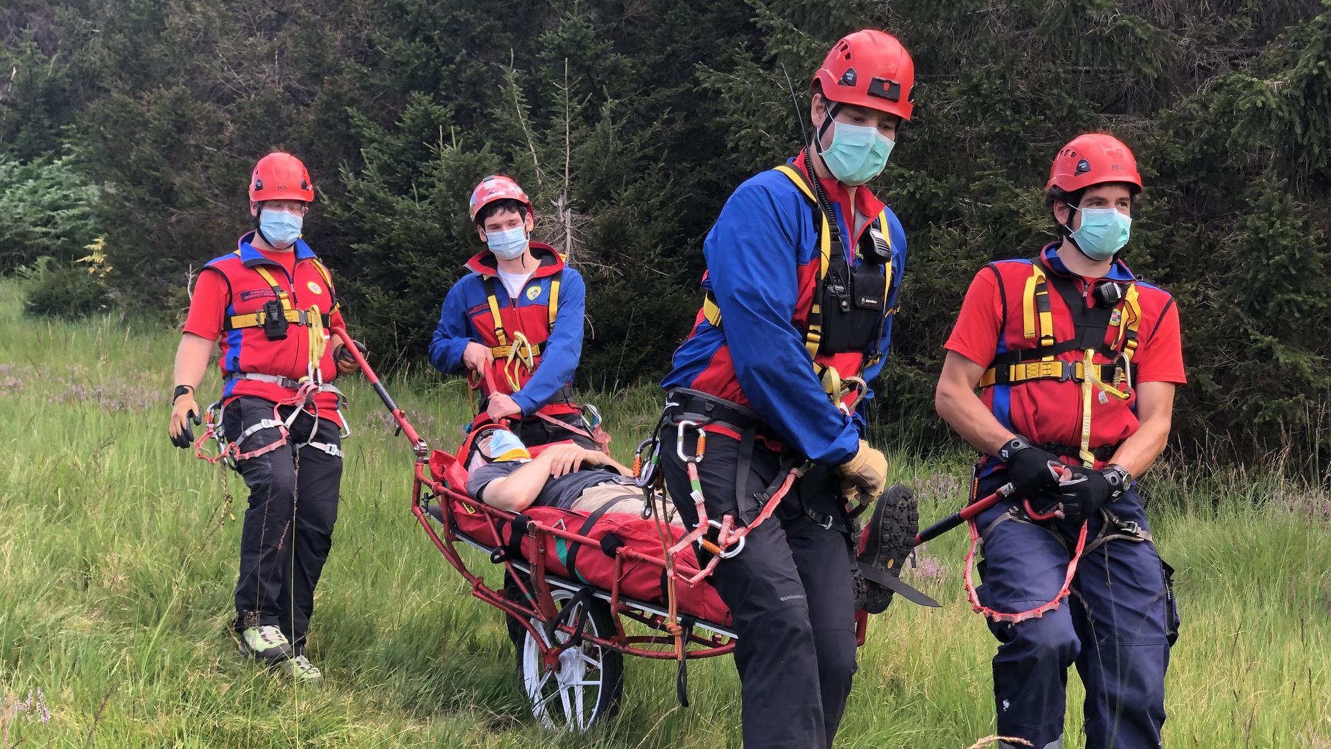 Karlsruher Bergwacht im Rettungseinsatz