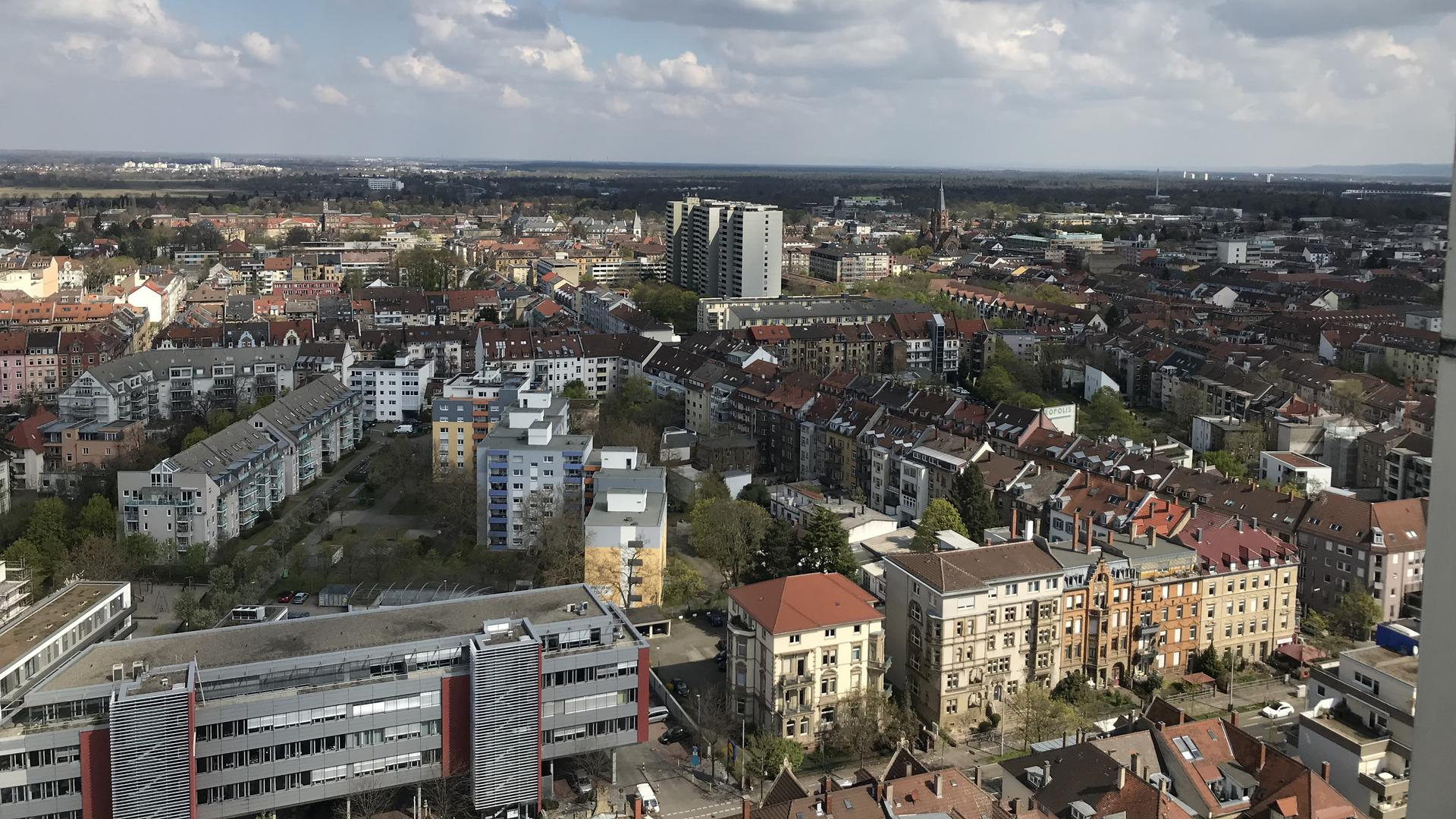 Blick vom Dach der DRV