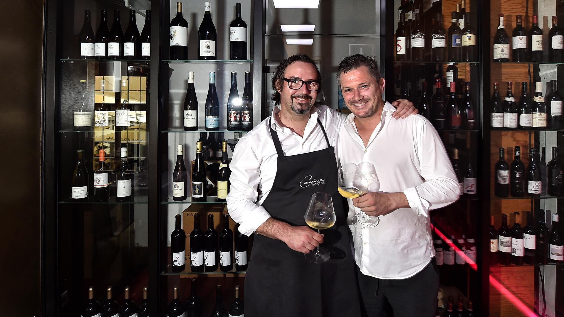 Cantina Majolika mit Thomas Scholz und Restaurantleiter Jürgen Schwarz
