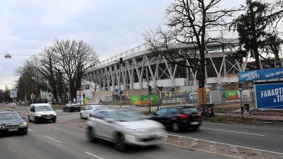 Umbau beim neuen Stadion: