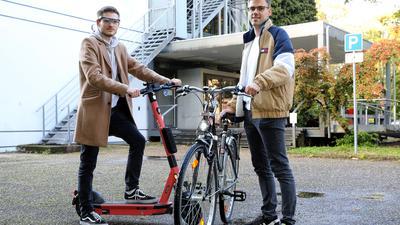Scooter und Fahrrad