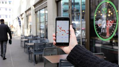 Wo gibt es Mittagessen? Diese App eines Start-ups aus der Region Karlsruhe will einen Überblick geben.