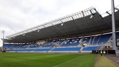© Jodo-Foto /  Joerg  Donecker// 14.04.2021 Neubau KSC-Stadion,         -Copyright - Jodo-Foto /  Joerg  Donecker Sonnenbergstr.4  D-76228 KARLSRUHE TEL:  0049 (0) 721-9473285 FAX:  0049 (0) 721 4903368  Mobil: 0049 (0) 172 7238737 E-Mail:  joerg.donecker@t-online.de Sparkasse Karlsruhe  IBAN: DE12 6605 0101 0010 0395 50, BIC: KARSDE66XX Steuernummer 34140/28360 Veroeffentlichung nur gegen Honorar nach MFM zzgl. ges. Mwst.  , Belegexemplar und Namensnennung. Es gelten meine AGB.