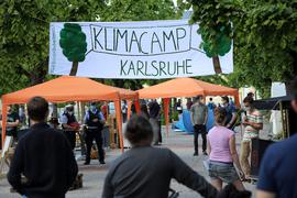 Klima-Camp auf dem Karlsruher Schlossplatz.