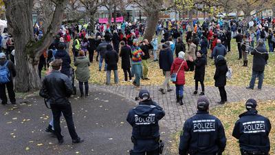 19.11.2020 Kundgebung Corona vor dem BVG und Schlossplatz, Karlsruhe