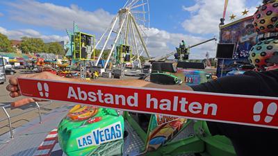 © Jodo-Foto /  Joerg  Donecker// 30.09.2020 Mess-Aufbau mit Corona-Auflagen,                                              -Copyright - Jodo-Foto /  Joerg  Donecker Sonnenbergstr.4  D-76228 KARLSRUHE TEL:  0049 (0) 721-9473285 FAX:  0049 (0) 721 4903368  Mobil: 0049 (0) 172 7238737 E-Mail:  joerg.donecker@t-online.de Sparkasse Karlsruhe  IBAN: DE12 6605 0101 0010 0395 50, BIC: KARSDE66XX Steuernummer 34140/28360 Veroeffentlichung nur gegen Honorar nach MFM zzgl. ges. Mwst.  , Belegexemplar und Namensnennung. Es gelten meine AGB.
