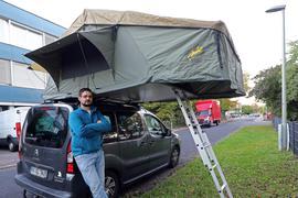 Mit den Dachzeltnomaden ist Simon Schmitt aus Mühlburg als Helfer im Ahrtal aktiv.