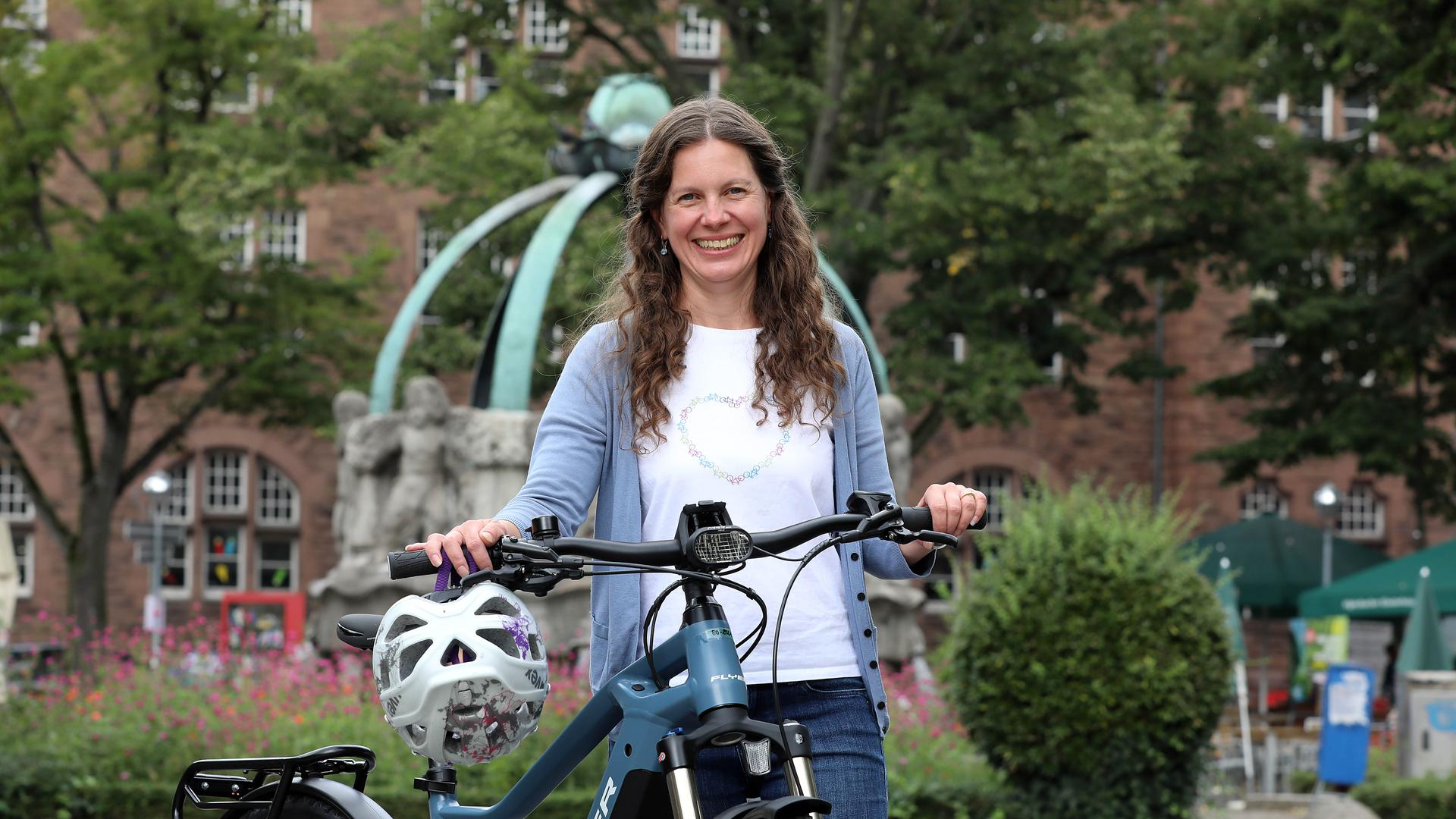 In der Stadt und im Land engagiert: Kristine Simonis sitzt im Landesvorstand des ADFC und setzt sich vor allem für guten Radtourismus ein.