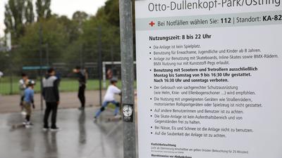 In der Skateranlage im Otto-Dullenkopf Park herrscht zu bestimmten Zeiten Rollerverbot.