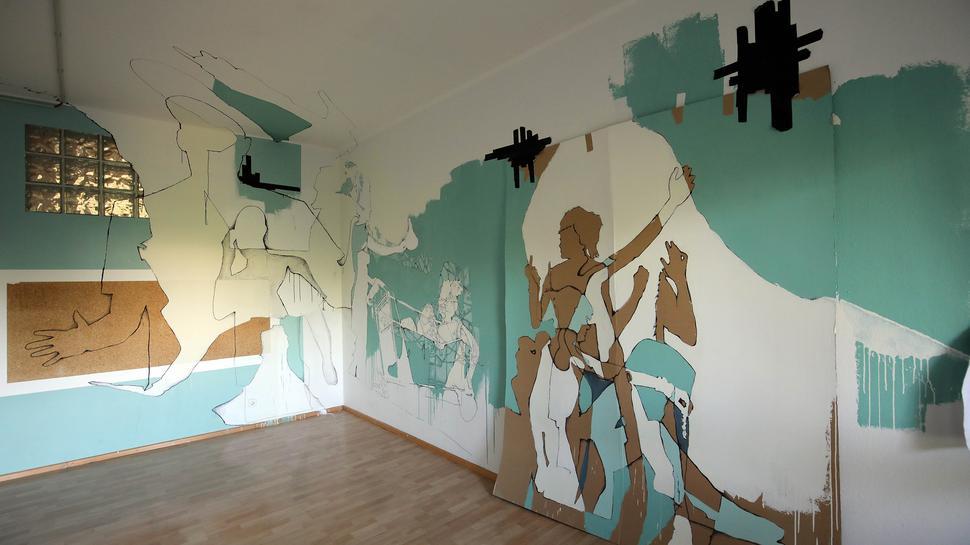 Eternal Patience - Ewige Geduld - hat Aaron Zeitz sein Werk in der Ausstellung Expostation im Sybelcentrum genannt.