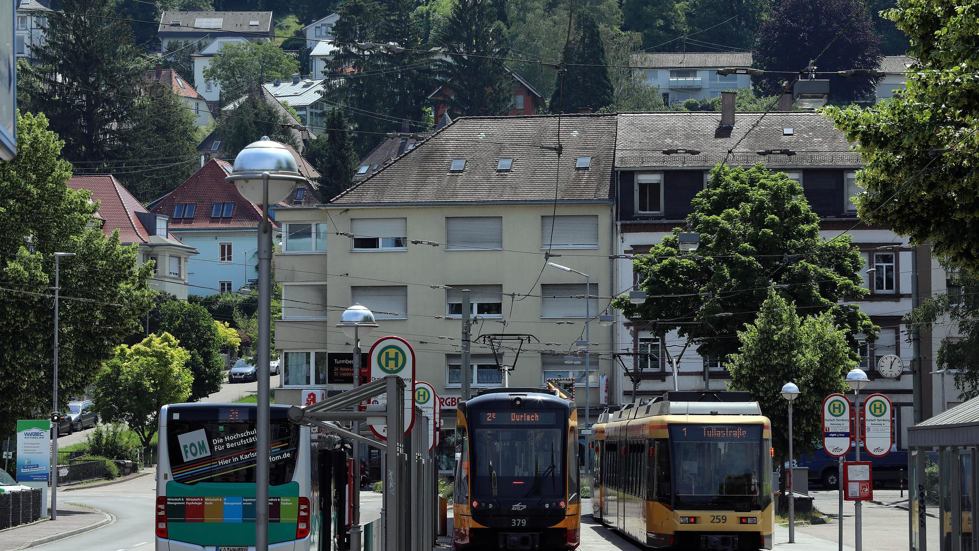 17.06.2021 Beim Neubau der Turmbergbahn geplant ist eine Verlängerung bis zur Endhaltestelle der Straßenbahn in Durlach.