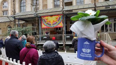 Positives Fazit: Am Sonntagnachmittag ging die Vesperkirche Karlsruhe mit einer Andacht für wenige Besucher zu Ende.