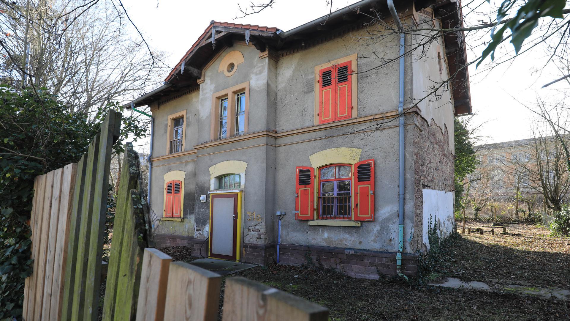 "Die ehemalige Kita ""Villa Kunterbunt"" in der Moltkestraße in Karlsruhe"