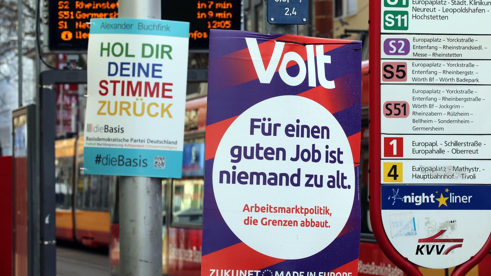 Wettbewerb: Neben den arrivierten Parteien kämpfen bei der Landtagswahl am 14. März auch kleine und Kleinstparteien um politische Marktanteile.