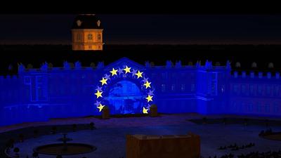 Bekenntnis zu Europa: Attitude Indicator heißt das Werk der Bielefelder Künstlergruppe TNL.