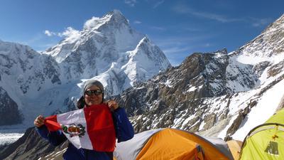Ein Leben für die Berge: 2019 bestieg Flor Cuenca Blas den Broad Peak in Pakistan. In diesem Sommer will sie ihren vierten Achttausender schaffen, den Nanga Parbat.