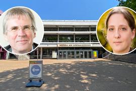 Während der Corona-Pandemie sind am KIT ohnehin kaum Studierende zu sehen. Zu normalen Zeiten schätzen Präsident Holger Hanselka und Diversity-Managerin Katrin Klink aber die gute Atmosphäre am Campus.