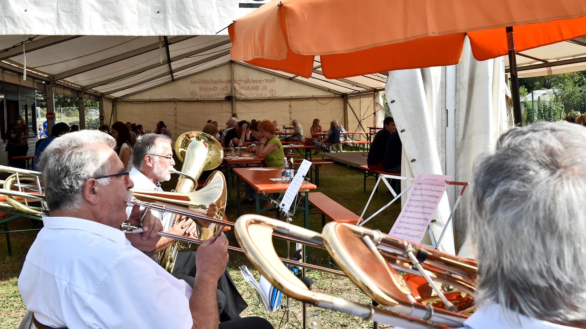 Das diesjährige Straßenfest in Wolfartsweier fiel in diesem Jahr deutlich kleiner aus.