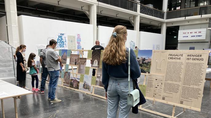 Die Hochschule für Gestaltung zeigte bei der Kamuna 2021 Beispiele für nachhaltiges Bauen.
