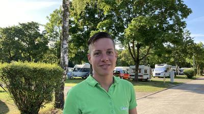 Rocco Trunz leitet den Campingplatz in Karlsruhe-Durlach und freut sich über den regen Andrang.
