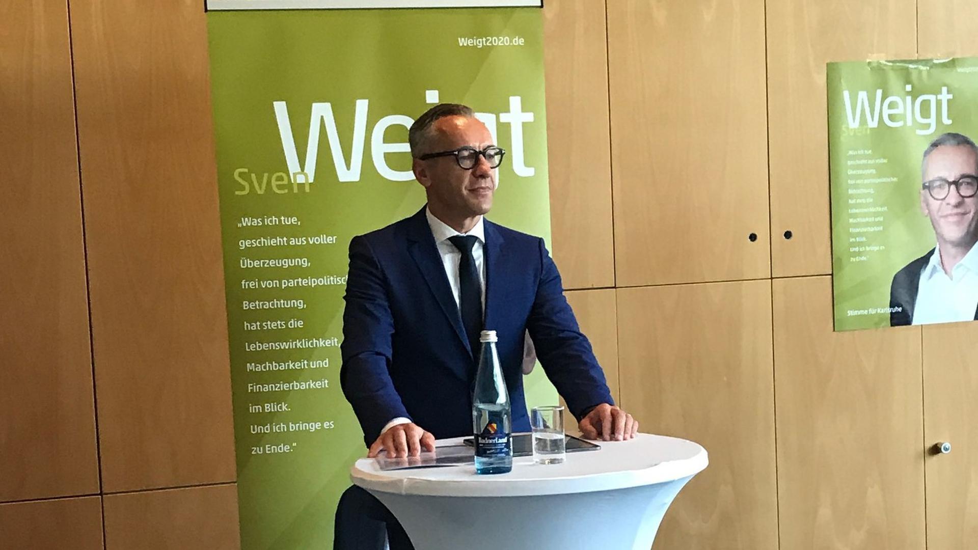 Sven Weigt OB-Kandidat CDU und FDP Karlsruhe