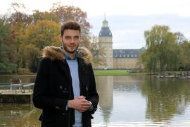 Marc Nehlig an seinem Lieblingsplatz im Karlsruher Schlossgarten