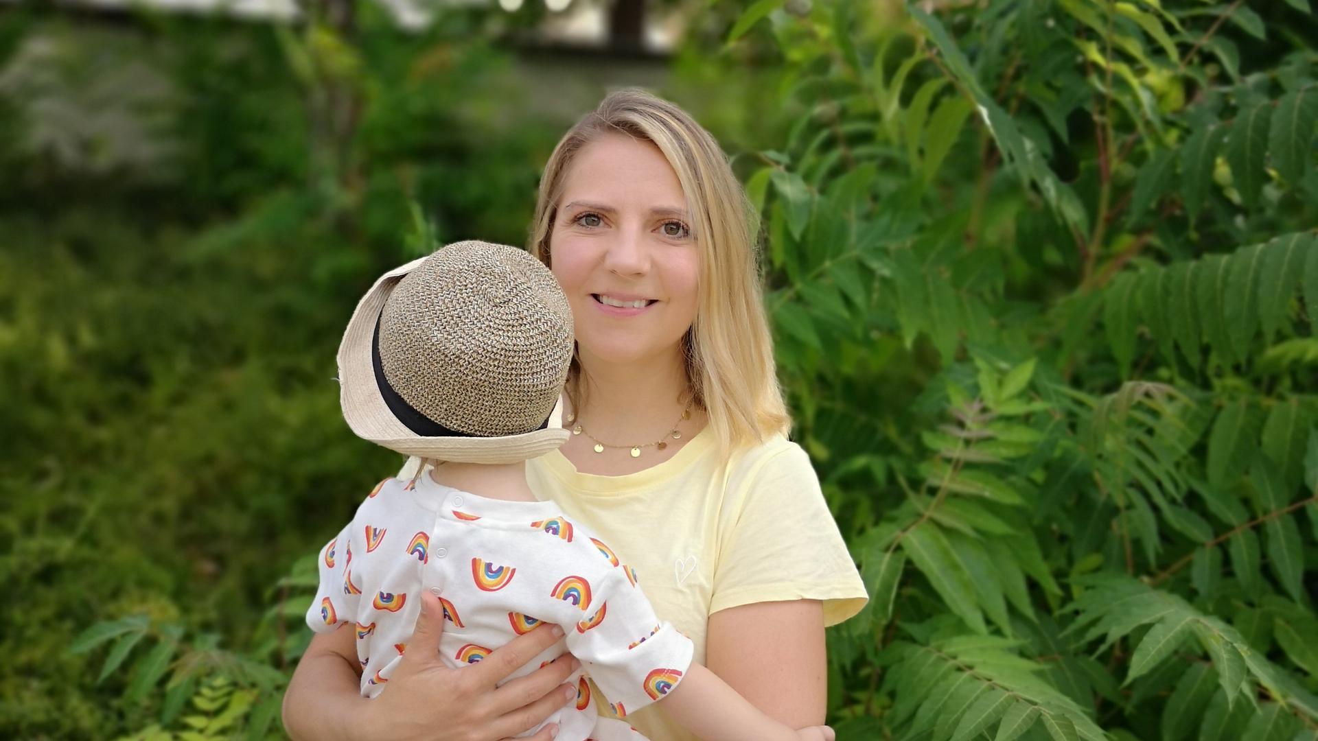 Carolin Welte und ihre Tochter Leni