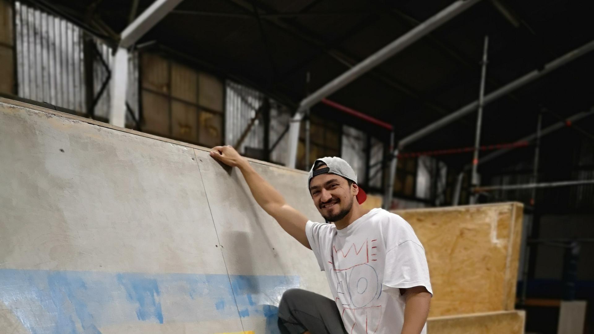 Fabian Barreto geht die Wände hoch. Und danach ist er noch nicht einmal aus der Puste.