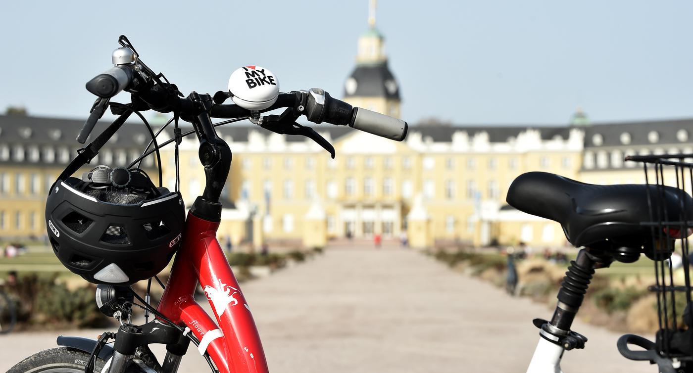 24.02.2021 Rad Reporter unterwegs in Karlsruhe mit Julia Weller, Eki Kinkel; Kirsten Etzold und Gerhard Wolf