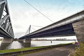 17.12.2019 Baustelle Rheinbrücke KA-Maxau