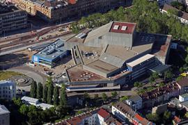 Luftbild vom 31.05.2021 Karlsruhe Badisches Staatstheater