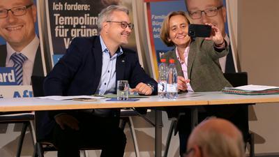 Beatrix Storch mit Marc Bernhard in der Karlsburg in Durlach