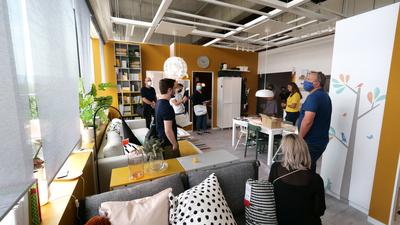 Neue Perspektiven für Karlsruhe bietet das Einrichtungshaus von Ikea an der Durlacher Allee. Am Donnerstag, 24. September, wird es eröffnet.