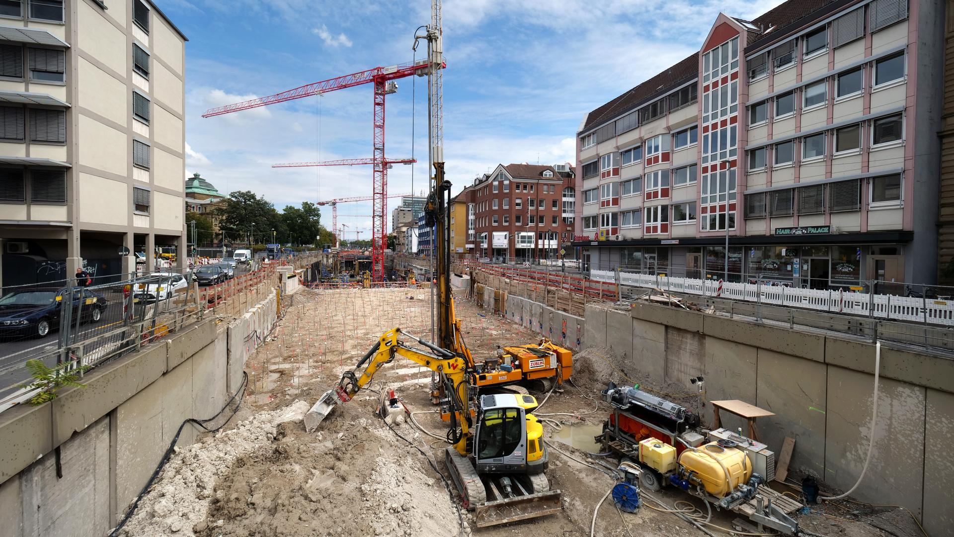 Baustelle Kriegsstrasse Karlstor Peter Sandbiller