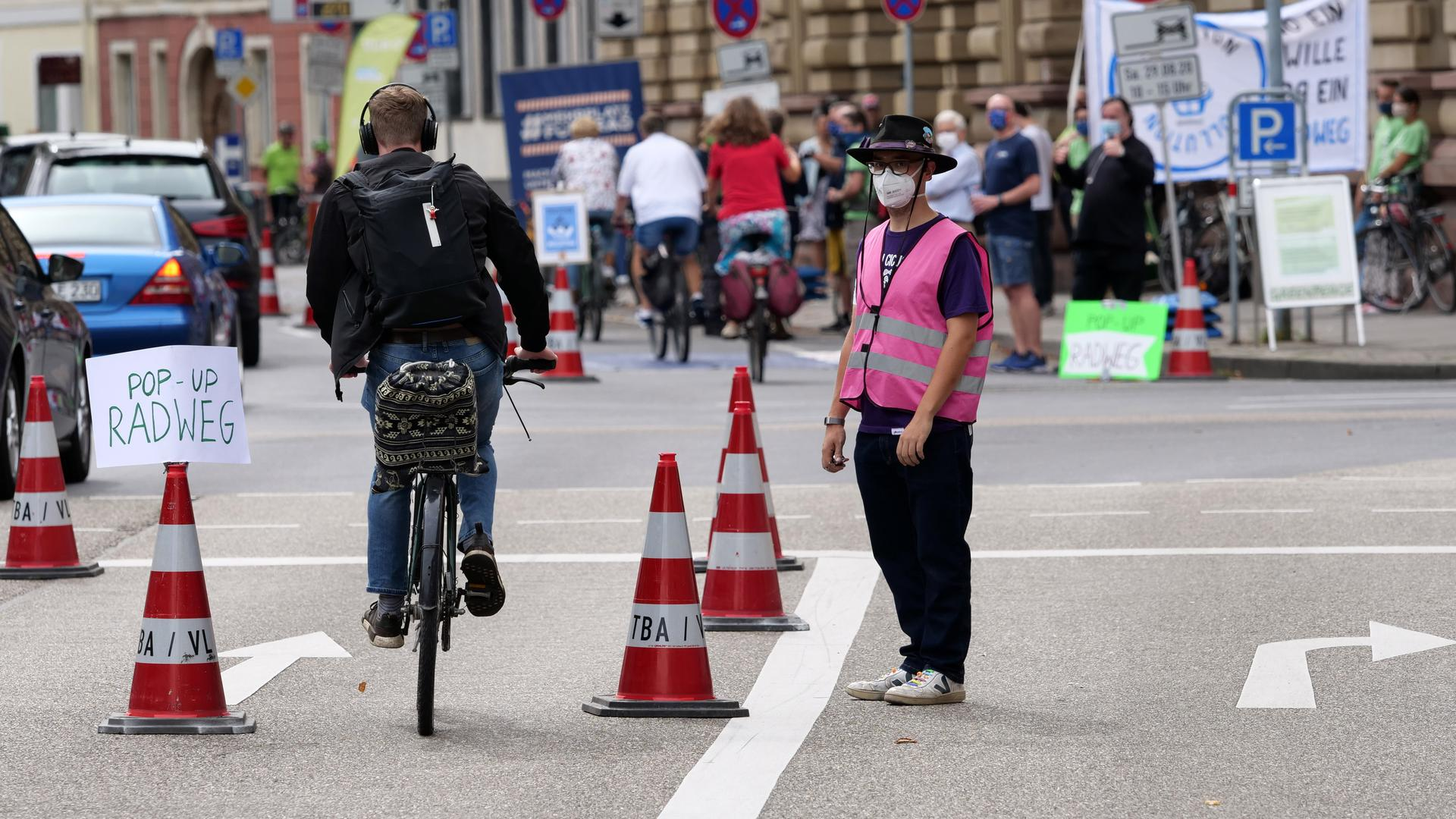 Pop-Up Radweg.