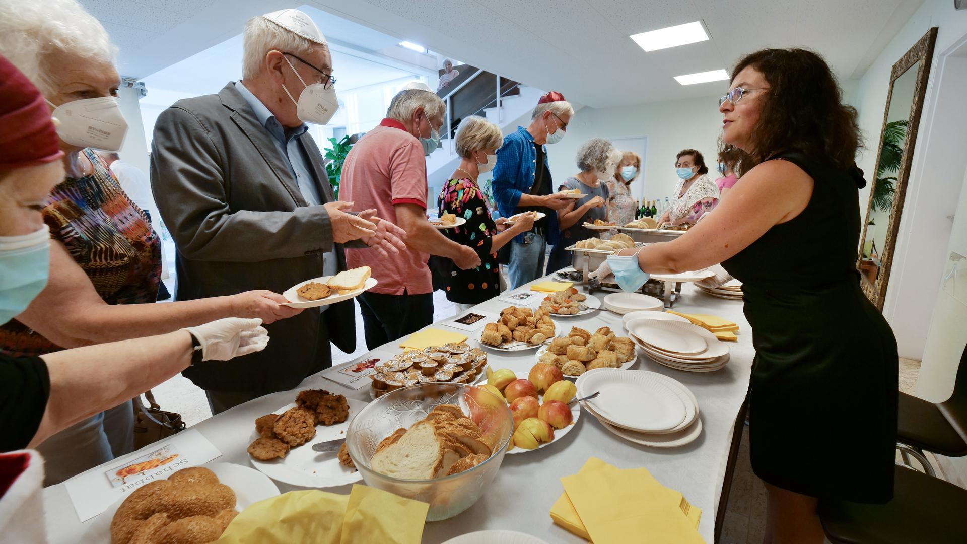 Kulinarische Köstlichkeiten: Beim Europäischen Tag der Jüdischen Kultur gab es neben geistiger auch handfeste Nahrung.
