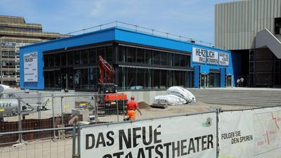 Bauarbeiten am Badischen Staatstheater