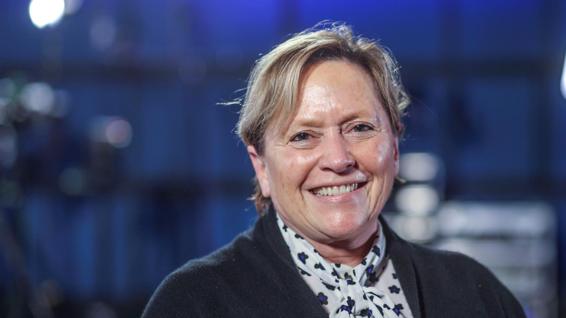 CDU-Spitzenkandidatin Susanne Eisenmann beim BNN-Forum zur Landtagswahl Baden-Württemberg im ZKM in Karlsruhe.