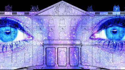 """Neue Einblicke: Die Show """"Attitude Indicator"""" feiert bei der rein digitalen Ausgabe der Schlosslichtspiele Premiere."""