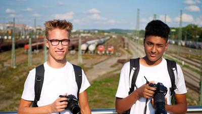 Die Trainspotter Fabian und Maurice