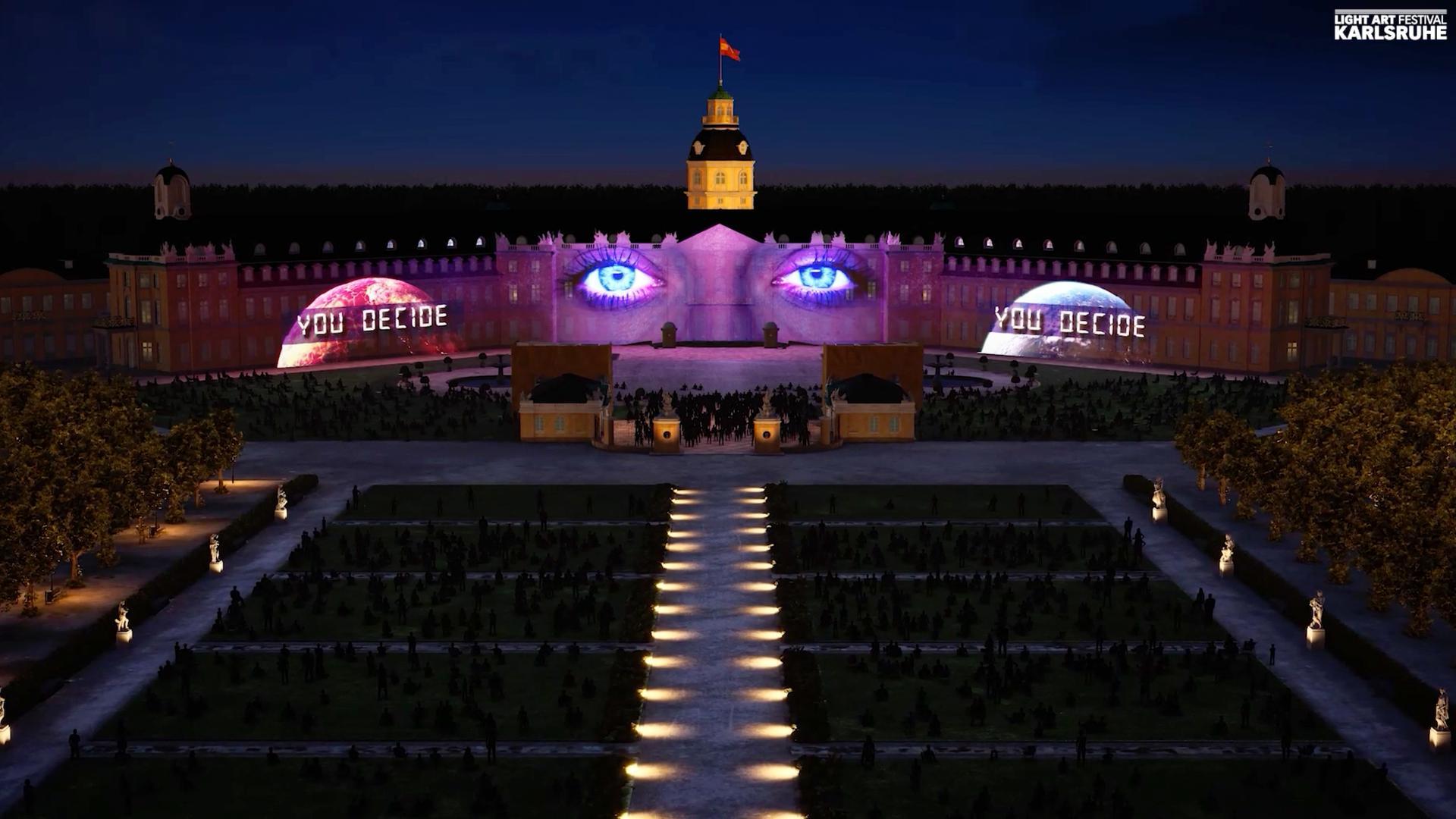 Die Schlosslichtspiele im Blick: Attitude  Indicator heißt die neue Show der Gruppe The Nightlab.