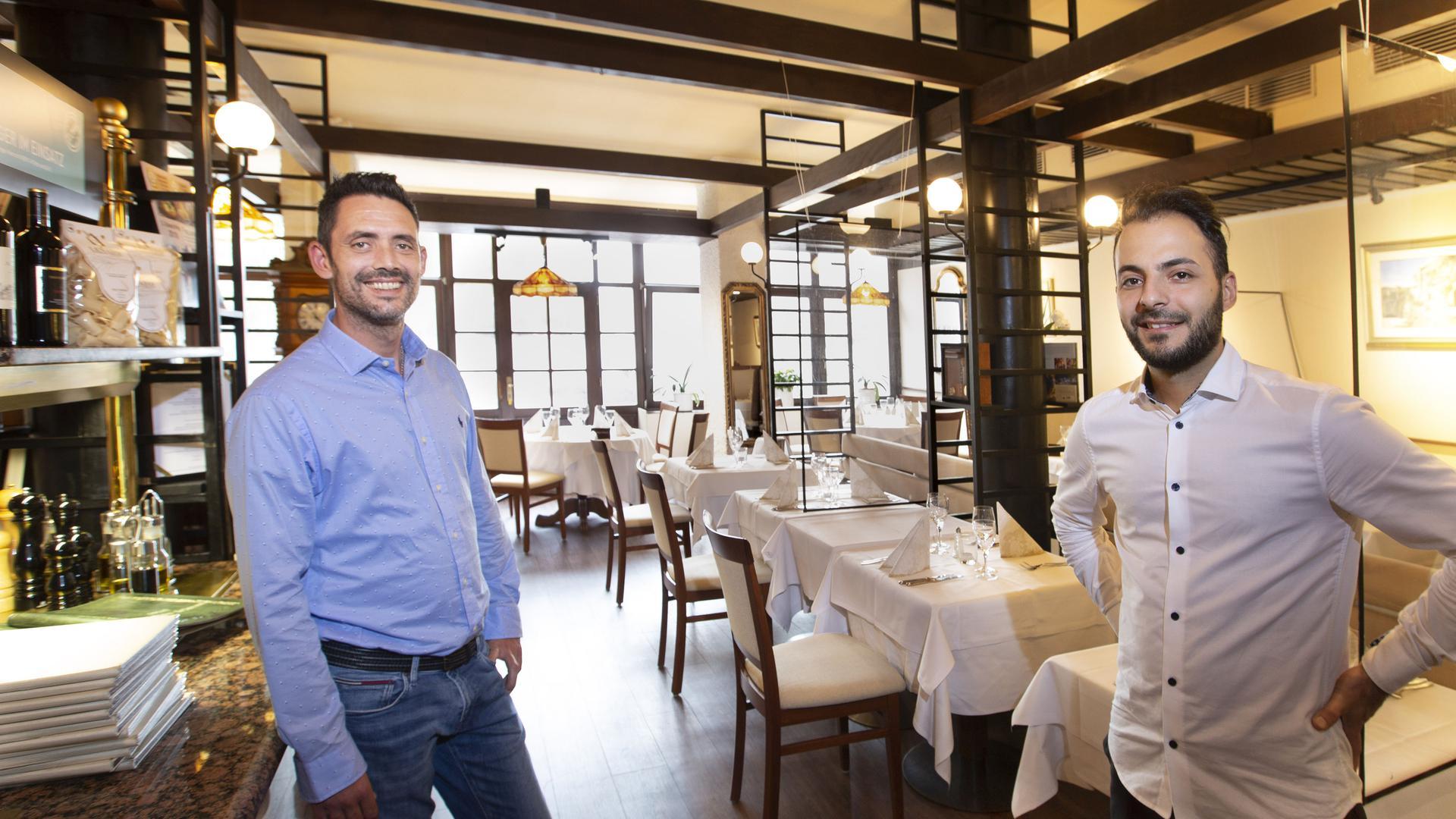 Giuseppe Collura und Felice Miceli im Ristorante Adria