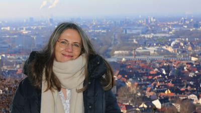 12.01.2021 Claudia Gliemann an der Turmbergterrasse